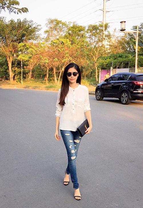 Facebook sao 20/1: Fan tò mò Khánh Thi mang bầu lần 2 - 5