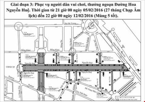 Phân luồng giao thông phục vụ đường hoa Nguyễn Huệ - 3