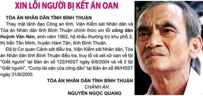 Cơ quan điều tra thụ lý đơn tố cáo của ông Huỳnh Văn Nén - 1