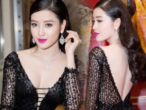 Thời trang - Huyền My mặc váy xẻ sâu khoe trang sức 2 tỷ