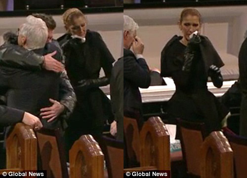 Celine Dion đẫm nước mắt trong đám tang chồng - 5