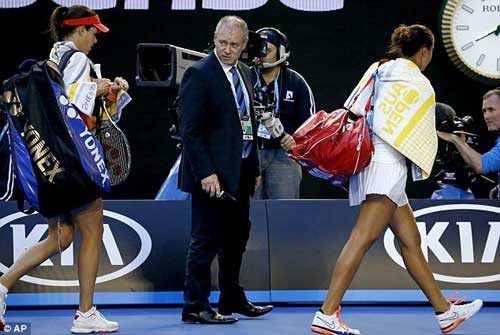 Australian Open ngày 6: Bố vợ Murray ngất xỉu, Ivanovic hoảng hồn - 5