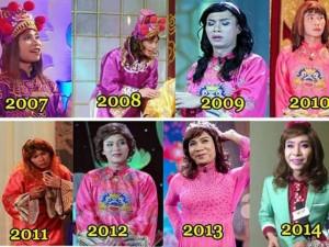 Phong cách thời trang của 'cô Đẩu' Công Lý qua 12 năm