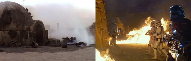 14 điểm trùng hợp bất ngờ trong hai phần Star Wars 7 và 4 - 4