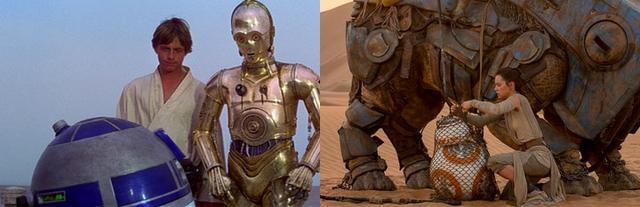 14 điểm trùng hợp bất ngờ trong hai phần Star Wars 7 và 4 - 5
