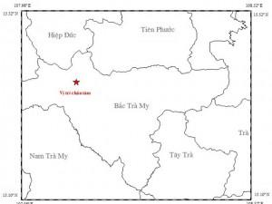 Tin tức Việt Nam - Động đất 3,3 độ richter kèm tiếng nổ lớn ở Quảng Nam