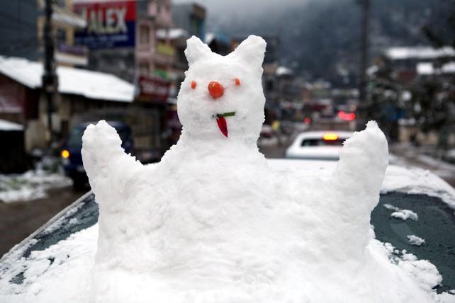 Ảnh: Du khách thích thú nặn người tuyết ở Sa Pa - 12
