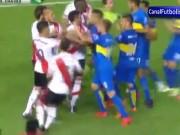 """Bóng đá - """"Siêu kinh điển"""" Nam Mỹ: 5 thẻ đỏ và màn ẩu đả ác liệt"""