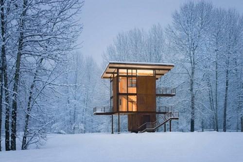 """Đẹp """"tê tái"""" những ngôi nhà ẩn mình trong tuyết trắng - 5"""