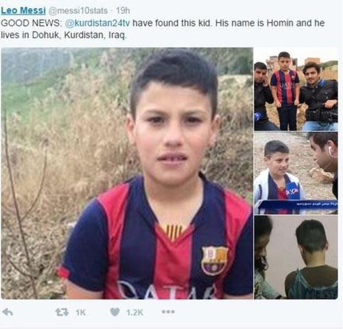 Loạn danh tính cậu bé mặc áo Messi bằng nilon gây sốt - 1
