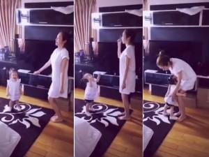 Elly Trần tung clip nhảy cực yêu cùng con gái