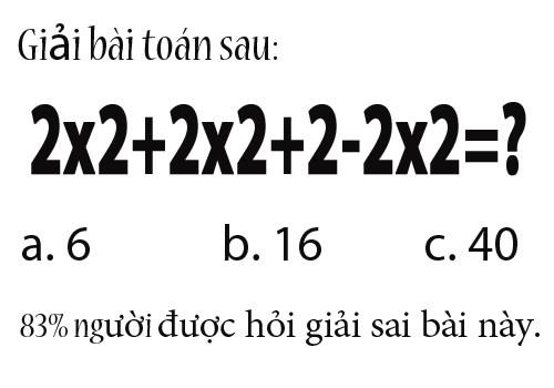 Thêm một bài toán thú vị nhiều người giải sai - 1