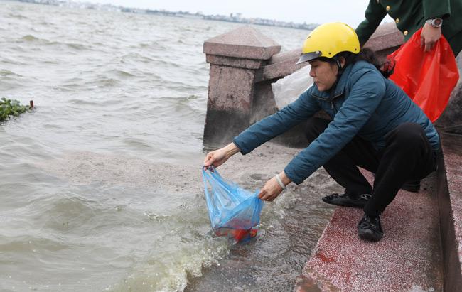Ra Hồ Tây, cá chép Ông Táo gặp sóng to, gió lớn - 6