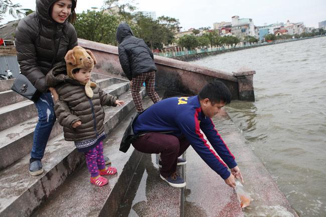 Ra Hồ Tây, cá chép Ông Táo gặp sóng to, gió lớn - 5
