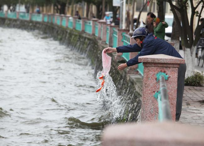 Ra Hồ Tây, cá chép Ông Táo gặp sóng to, gió lớn - 8
