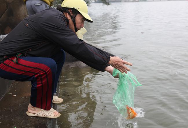 Ra Hồ Tây, cá chép Ông Táo gặp sóng to, gió lớn - 14