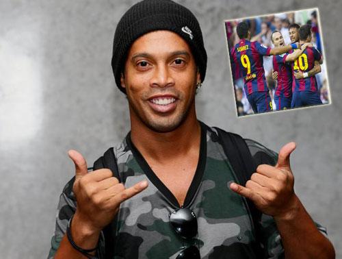 Trở lại Barca, Ronaldinho nói mê mẩn xem Messi, Neymar - 1