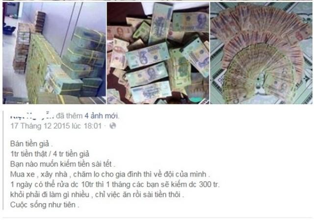 Bắt đối tượng rao bán tiền giả trên Facebook - 1