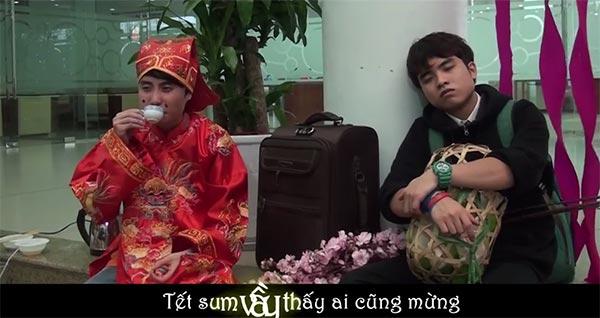 Sinh viên làm clip hài nhắc game thủ về quê ăn Tết - 3