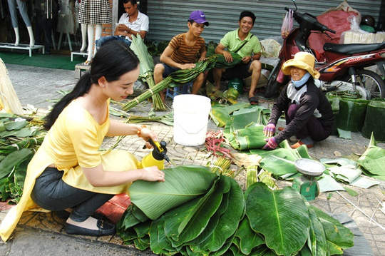 Chợ lá dong Sài Gòn tất bật những ngày giáp Tết - 4