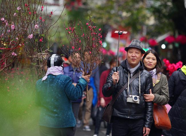 Ảnh: Sắc màu chợ hoa xuân phố cổ ngày cận Tết - 5