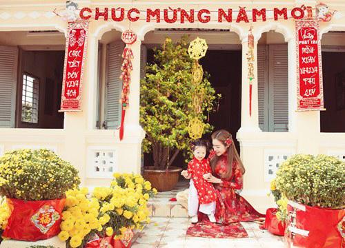 Elly Trần lần đầu chụp ảnh đón Tết cùng con gái - 12