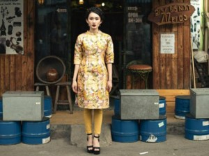 Thời trang - Thị trường áo dài nhộn nhịp dịp tết đến