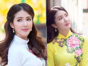 Hot girl Linh Napie khoe sắc xuân trên phố Sài Gòn