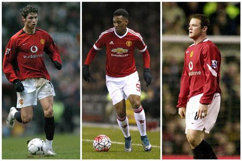 Bước đầu ở MU: Martial chỉ kém Rooney, ăn đứt CR7 - 1