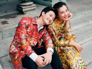 Thời trang - Hoàng Oanh diện áo dài xuân tình cảm với bạn trai