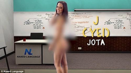 Cô giáo khỏa thân dạy tiếng Anh trên truyền hình - 4