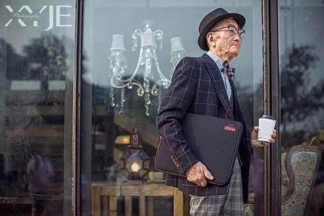 """Sự thực bất ngờ về """"cụ già sành điệu nhất Trung Quốc"""" - 9"""