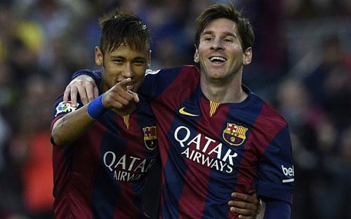 """""""Hoàng tử"""" Neymar đâu kém tài """"Vua"""" Messi - 1"""