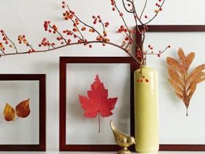 Làm đẹp cho ngôi nhà ngày Tết bằng những chiếc lá vàng