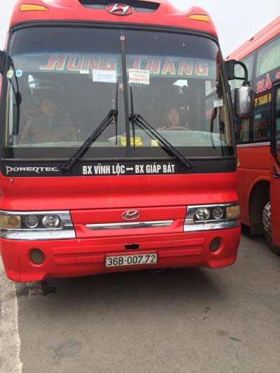 Đình tài xe khách chở quá 30 người tại Bến xe Giáp Bát - 2