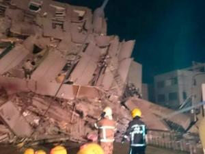Động đất 6,4 độ richter ở Đài Loan, nhiều tòa nhà bị sập