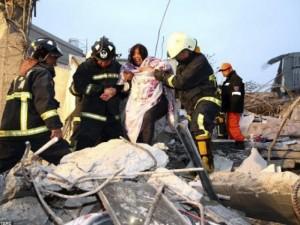 Hiện trường trận động đất làm rung chuyển Đài Loan