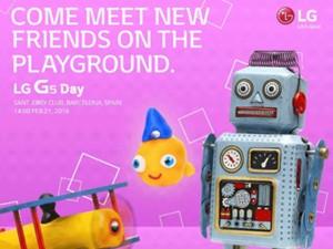 Xác nhận LG G5 sẽ công bố vào ngày 21/02