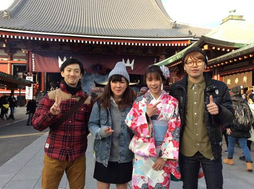 """Người đẹp Wushu Thúy Vi """"khoe"""" chuyến chơi Tết ở Nhật - 7"""