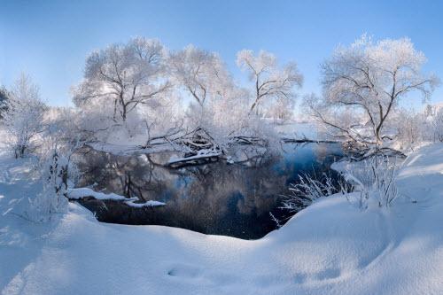 Ảnh: Cảnh tượng mùa đông đẹp như mơ ở Belarus - 1