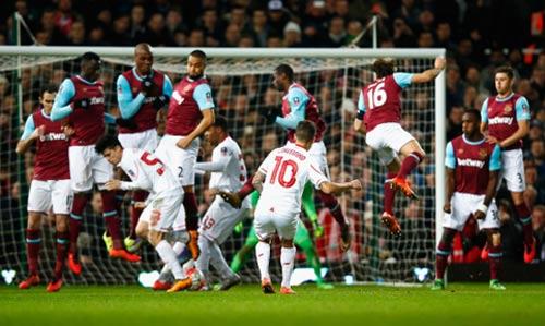 """West Ham - Liverpool: Bàn thắng """"tử thần"""" - 1"""