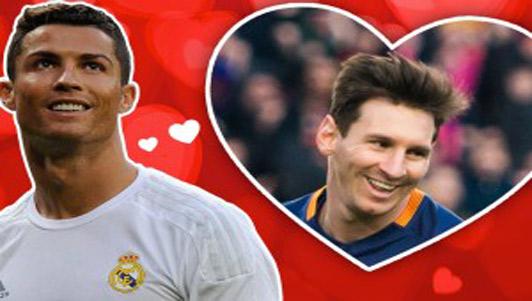 """Nhân dịp Valentine, CR7 """"tỏ tình"""" với Messi"""