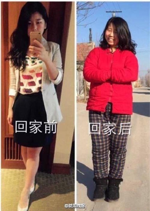 Sốc với hình ảnh trước và sau Tết của các thiếu nữ - 7
