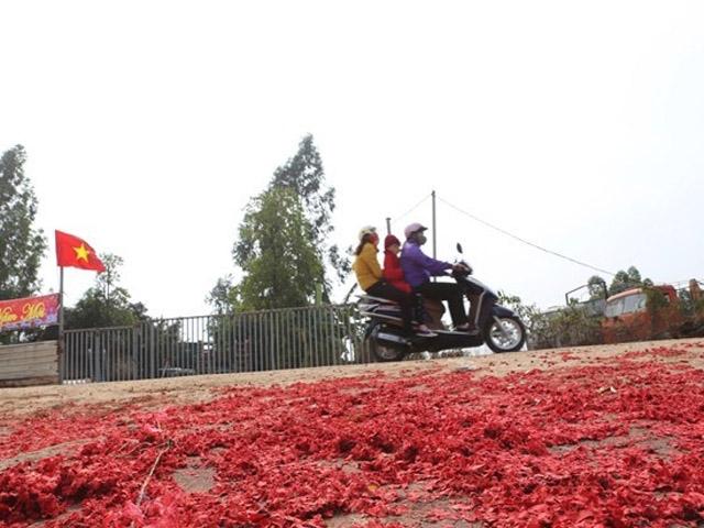 Xác pháo đỏ đường ở Vĩnh Phúc: Xử lý 6 trường hợp - 1
