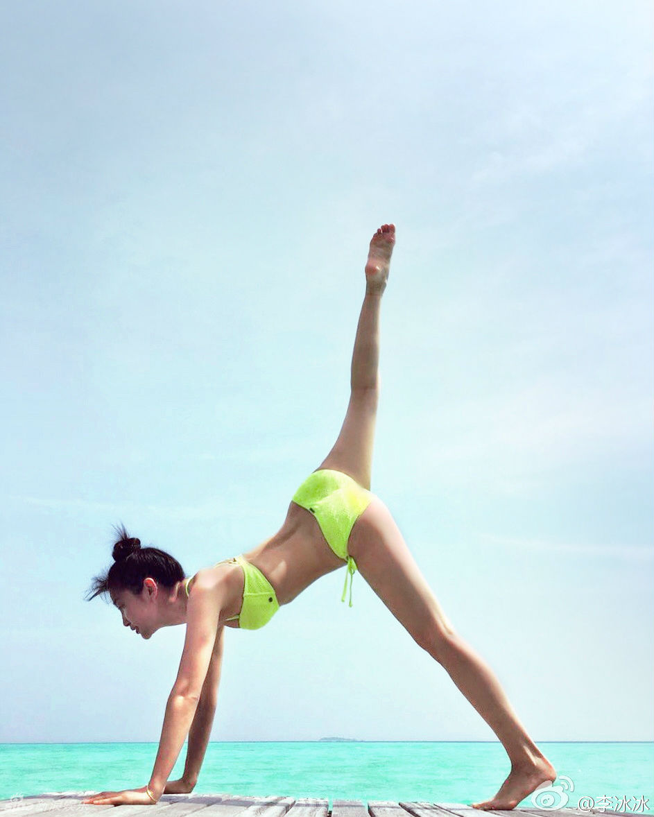 Mướt mắt ngắm Lý Băng Băng diện bikini đầu năm mới - 3