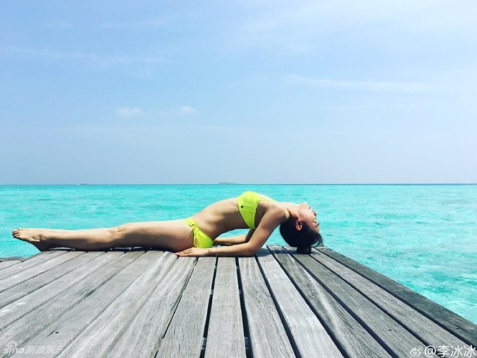 Mướt mắt ngắm Lý Băng Băng diện bikini đầu năm mới - 5