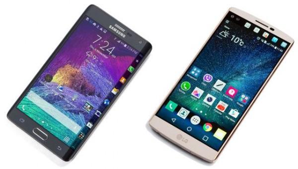 So sánh thú vị về màn hình phụ giữa Galaxy Note Edge với LG V10 - 1