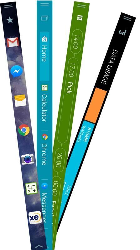 So sánh thú vị về màn hình phụ giữa Galaxy Note Edge với LG V10 - 3