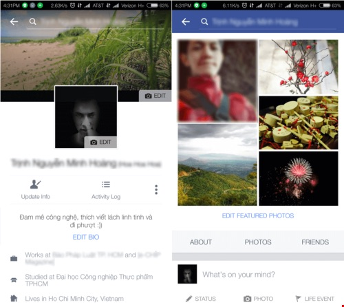 Facebook bắt đầu đổi mới về giao diện - 1