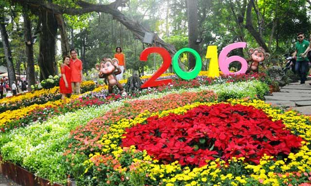Ngày nghỉ cuối, người Sài Gòn đắm mình trong sắc hoa xuân - 1